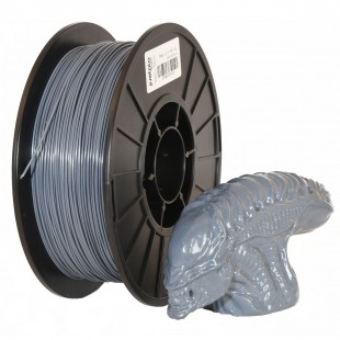 Gray 1.75mm PLA filament - 1kg/2.2lbs
