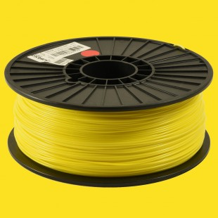 Yellow 1.75mm ABS filament - 1kg/2.2lbs