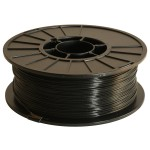 Black 1.75mm ABS filament - 1kg/2.2lbs