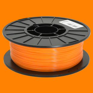 Orange 1.75mm PLA filament - 1kg/2.2lbs